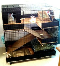 Homemade Indoor Rabbit Cages